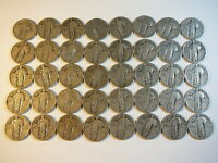 1925 -1930 ROLL OF 40 STANDING LIBERTY QUARTERS SILVER FULL DATES $10 FACE