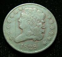 1828 U.S. HALF CENT CIRCULATED SOME SCRATCHES