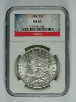 1884 P $1.00 MORGAN SILVER DOLLAR NGC MINT STATE 63 7064
