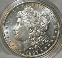 1897S MORGAN SILVER DOLLAR BU GEM GOLD RIM TONE