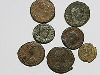 FANTASTIC TOP LOT OF 7 ANCIENT ROMAN BRONZE COINS UNSEARCH I