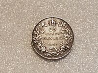 CANADA SILVER COIN   25 CENTS   1913   GEORGE V   [B921]