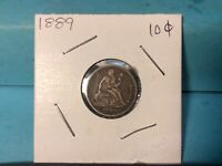 1889 SEATED SILVER LIBERTY DIME EXCELLENT DETAILS & EYE APPEAL