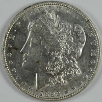 1892 P $1.00 MORGAN SILVER DOLLAR NOT GRADED AU CLEANED 7003