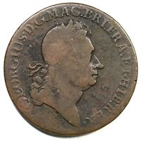 1723 CROWNED ROSE ROSA AMERICANA TWO PENCE COLONIAL COPPER C