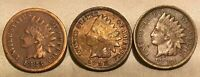 1883 1888 1889 INDIAN HEAD CENT LOT