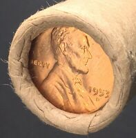 1953 D  OLD SEALED OBW  BU  LINCOLN WHEAT CENT PENNY HALF RO