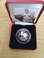 ROYAL MINT 2004 ROGER BANNISTER SILVER PROOF 50P CASED COA