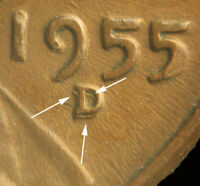 1955 D LINCOLN CENT WITH RPM 002