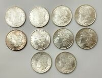 LOT OF 10 1890 P MORGAN SILVER DOLLAR $1  DETAIL / LUSTER PHILADELPHIA