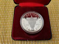 CASED 1982 CANADA SILVER PROOF DOLLAR COIN   23.3G