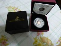 2011  RCM  15$  FINE SILVER  COIN  MAPLE OF HAPPINESS .999 SILVER