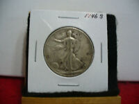 1946 S  WALKER  LIBERTY WALKING  HALF  DOLLAR  50 CENT PIECE  COIN  46S  AUCTION