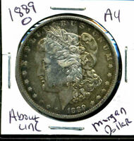 1889 O AU MORGAN DOLLAR ABOUT UNCIRCULATED 90SILVER COIN OLD $1 AUCTION CC123