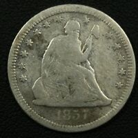 1857 O SEATED LIBERTY SILVER QUARTER   ISSUES