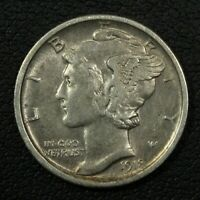 1918 D MERCURY SILVER DIME   CLEANED