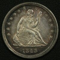1843 SEATED LIBERTY SILVER QUARTER