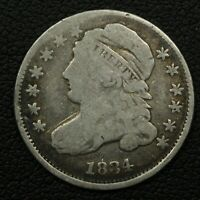 1834 CAPPED BUST SILVER DIME