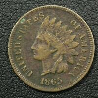 1865 PLAIN 5 INDIAN HEAD CENT COPPER PENNY   CORRODED