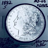 1882-S GEM BU AMAZING MONSTER DMPL MORGAN DOLLAR. WOW Z3