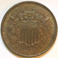 1864 TWO CENT PIECE   K22