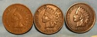 1900 1901 1903 INDIAN HEAD CENT LOT