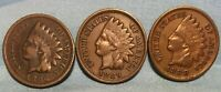 1886 1888 1889 INDIAN HEAD CENT LOT