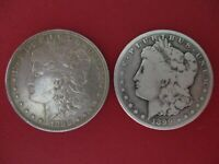 MORGAN SILVER DOLLARS 1898P & 1899S  LOT OF 2