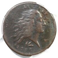 1793 S 11C R 3 PCGS VF DETAILS LETTERED EDGE WREATH LARGE CENT COIN 1C