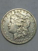 1894 O MORGAN SILVER DOLLAR CHOICE VF  DATE