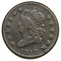 1812 S-290 SMALL DATE CLASSIC HEAD LARGE CENT COIN 1C