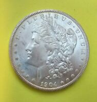 1904-O MORGAN SILVER DOLLAR CHOICE UNC IN CAPSULE MS