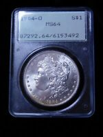 1904-O MORGAN DOLLAR  RATTLER HOLDER  PCGS MINT STATE 64 - 090822