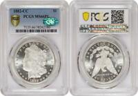 PROOF LIKE 1882-CC MORGAN SILVER DOLLAR PCGS & CAC MINT STATE 66PL - ITEM USC004