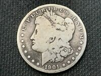 1901-O  MORGAN DOLLAR   VG        3 OR MORE  FREE S/H      90 SILVER   B363