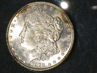 1878 7-TAIL FEATHERS MORGAN SILVER DOLLAR SUPERB MS  DATE VAM 110