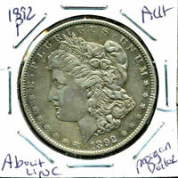 1892 P AU MORGAN DOLLAR ABOUT UNCIRCULATED 90SILVER COIN OLD $1 AUCTION CCW367