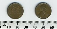 USA 1942 D -  1 CENT BRONZE COIN - LINCOLN CENT - WHEAT EARS REVERSE