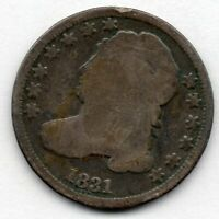 1831 CAPPED BUST DIME 89.0 SILVER COIN