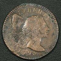 1795 FLOWING HAIR LIBERTY CAP COPPER LARGE CENT   CLEANED