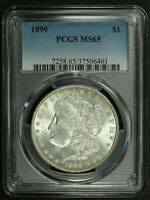 1899 MORGAN SILVER DOLLAR PCGS MINT STATE 65