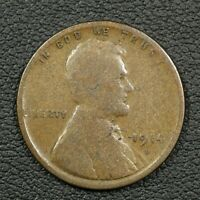 1914 D LINCOLN WHEAT CENT COPPER PENNY - NICKS