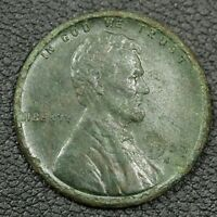 1909 S VDB LINCOLN WHEAT CENT COPPER PENNY - CORRODED