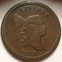 1797 LIBERTY CAP HALF CENT CHOICE FINE PLEASING ORIGINAL SMOOTH SURFACES 1/2C
