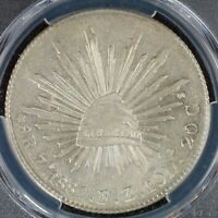 8 REALES 1887 ZS FZ PCGS MS62 MEXICO SECOND REPUBLIC ZS73 SI