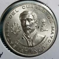 MEXICO 1962 BATTLE OF MAY 4TH STERLING MEDAL 30.4 GR  105 6