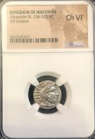 ALEXANDER THE GREAT LAMPSAKOS 328 323BC ANCIENT SILVER DRACH