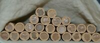 LOT OF 25 WHEAT CENT ROLLS / 1909 1958 /  COLLECTION / 1250