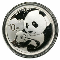 2019 30G 40MM CHINA PANDA 10 YUAN 1 OZ  SILVER COIN WITH BOX