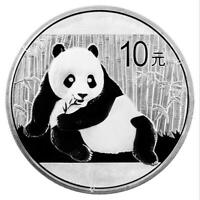 2015 30G 40MM CHINA PANDA 10 YUAN 1 OZ  SILVER COIN WITH BOX